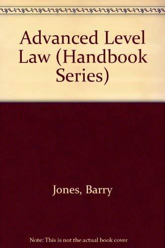 A-level Law (The M & E Handbook Series) (9780712101929) by Jones, Barry