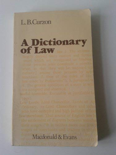 9780712103800: Dictionary of Law