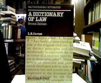 9780712104395: Dictionary of Law (M&E Professional Dictionaries)
