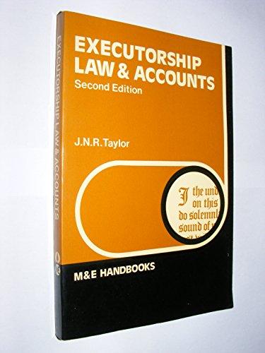 9780712105392: Executorship Law and Accounts (Handbook Series)
