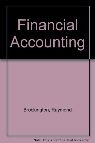 Financial Accounting: Brockington, Raymond