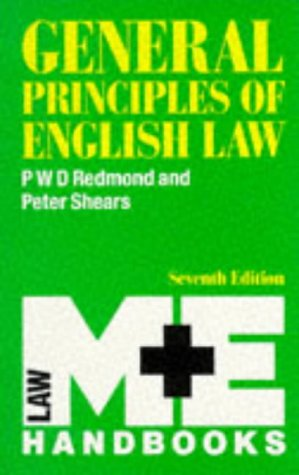 9780712108584: General Principles Of English Law (M & E Handbook Series)
