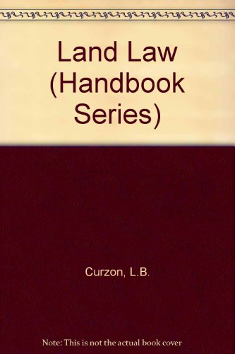 9780712111966: Land Law (Handbook Series)