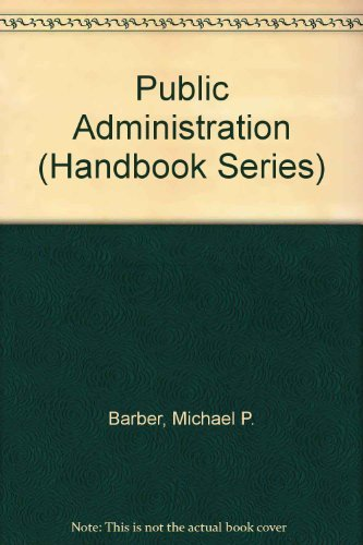 9780712117548: Public Administration (Handbook)