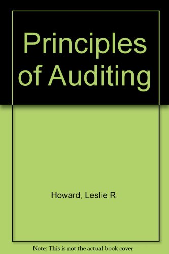 9780712117623: Principles of Auditing