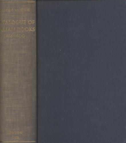 Catalogue of Italian Books 1465-1600: Edited
