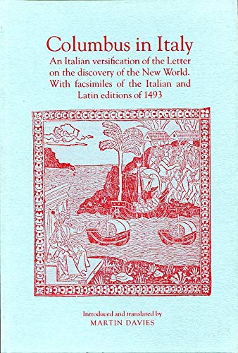 9780712302630: Columbus in Italy: An Italian Versification of the Letter on the Discovery of the New World