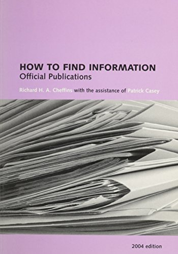 9780712308793: How to Find Information: Official Publications