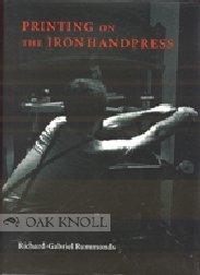 9780712345613: Printing on the Iron Handpress