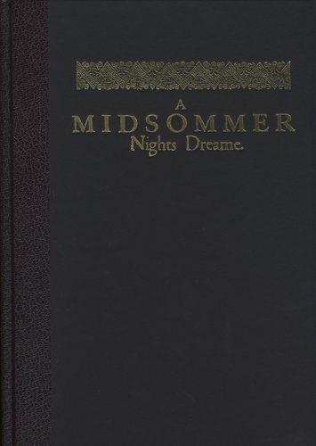 9780712350327: A Midsommer Nights Dreame: A Facsimile from the First Folio