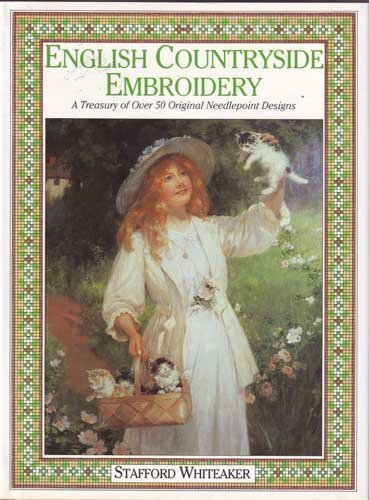 9780712622806: English Countryside Embroidery: A Treasury of Over 50 Exclusive Needlepoint Designs