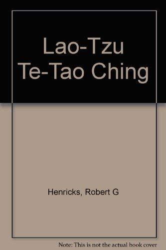 9780712646451: Lao-Tzu Te-Tao Ching