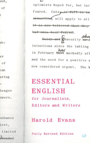 9780712664479: Essential English for Journalists, Editors and Writers (Pimlico)
