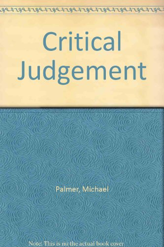 9780712679824: Critical Judgement