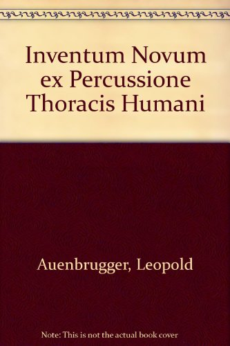 9780712900720: Inventum Novum ex Percussione Thoracis Humani (German, English and French Edition)