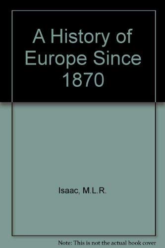 9780713116939: A History of Europe, 1870-1950