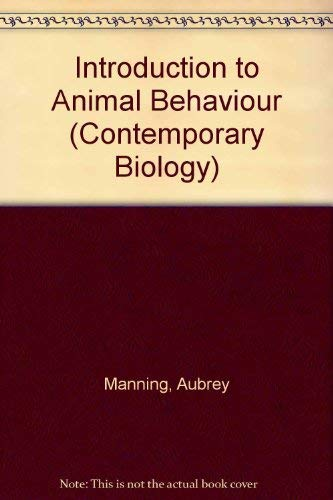 9780713123609: Introduction to Animal Behaviour (Contemporary Biology)