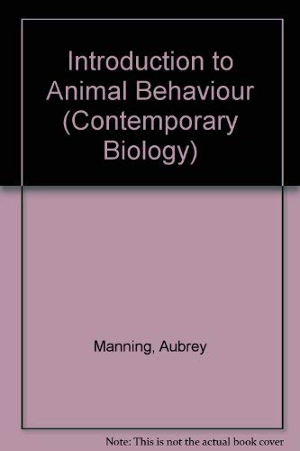 9780713123616: Introduction to Animal Behaviour (Contemporary Biology)