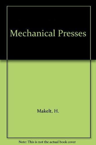 9780713131765: Mechanical Presses