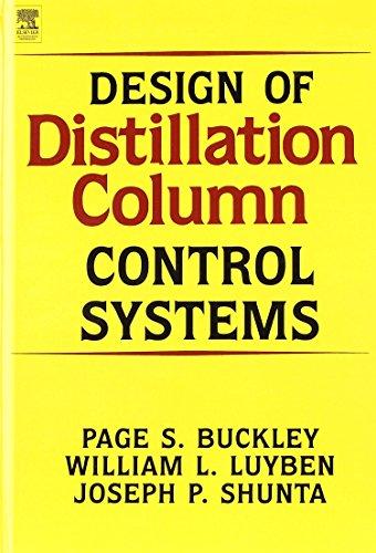 Design of Distillation Column Control Systems (Hardback): P Buckley, J Shunta, W Luyben