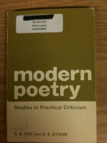 Modern Poetry: Cox, C.B., Dyson, A.E.