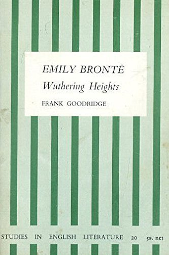 "9780713150919: Emily Bronte's ""Wuthering Heights"" (Study in English Literature)"