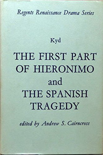 9780713151916: First Part of Hieronimo (Regents Renaissance Drama)