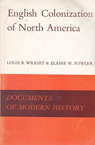 English Colonization of North America: wright, louis