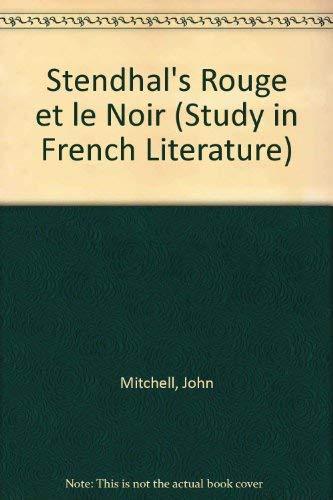 Stendhal, Le rouge et le noir (Studies: Mitchell, John