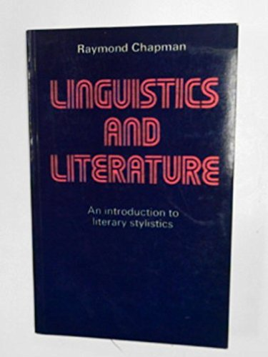 Linguistics and Literature. An introduction to literary stylistics.
