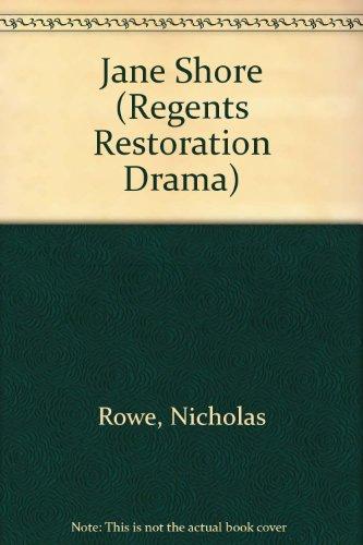 9780713157833: Jane Shore (Regents Restoration Drama)
