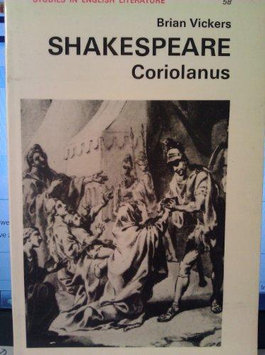 9780713158601: Shakespeare, Coriolanus (Studies in English literature ; no. 58)