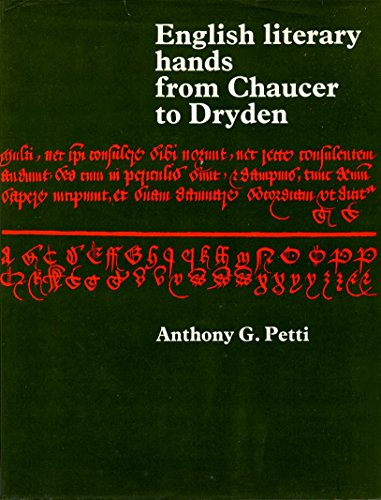 9780713158717: English Literary Hands from Chaucer to Dryden