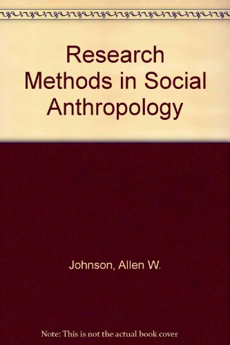 9780713161137: Research Methods in Social Anthropology
