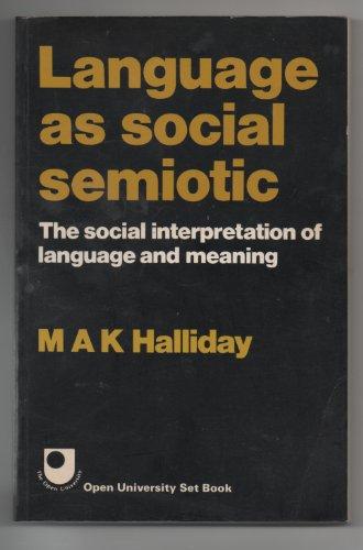 9780713162592: Language As Social Semiotic