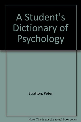 9780713165005: A Student's Dictionary of Psychology