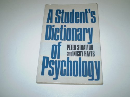 9780713165012: A Student's Dictionary of Psychology