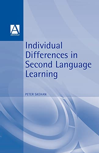 9780713166026: Individual Differences in Second Language Learning (Second-Language Acquisition)