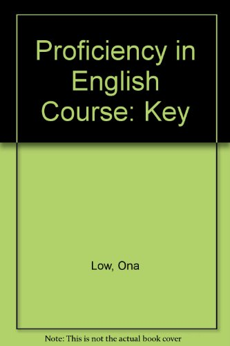 9780713182583: Proficiency in English Course: Key