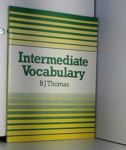 9780713184273: Intermediate Vocabulary