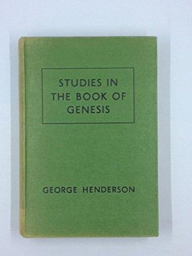 9780713200010: Studies in Genesis
