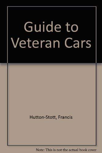 9780713411829: Guide to Veteran Cars (A Batsford book)