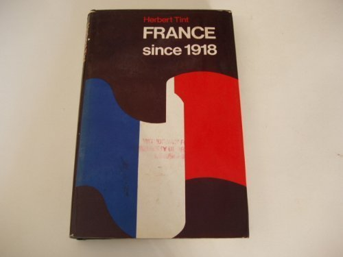 9780713415056: France Since 1918 (Studies in 20th Century History)