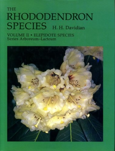 THE RHODODENDRON SPECIES. VOLUME II [ONLY]: Elepidote Species. Series Arboreum-Lacteum.