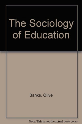 The Sociology of Education.