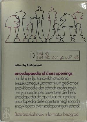 Enciklopedija Sahovskih Otvaranja . = Encyclopedia of Chess Openings: Matanovic, Aleksandar