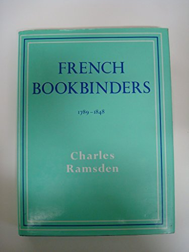 French Bookbinders, 1789-1848