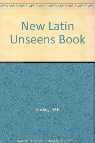 A New Latin Unseens Book