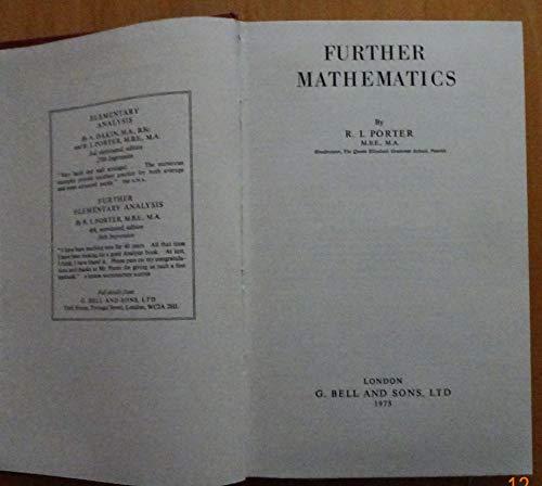 9780713517620: Further Mathematics
