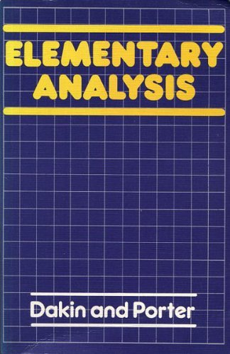 9780713518481: Elementary Analysis